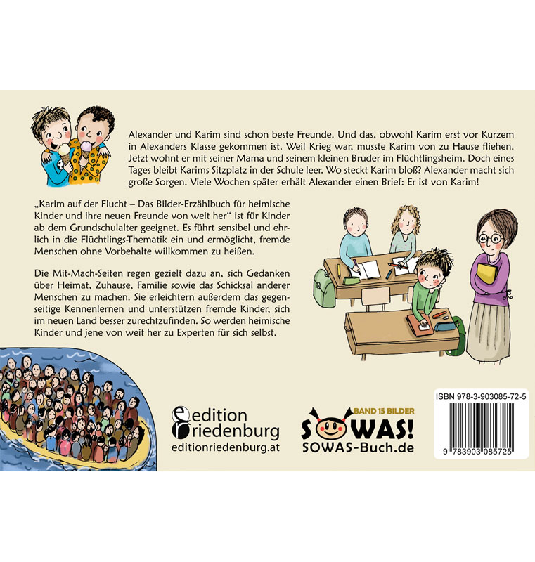 Karim auf der Flucht - Das Bilderbuch zum Thema Flüchtlinge (BC)