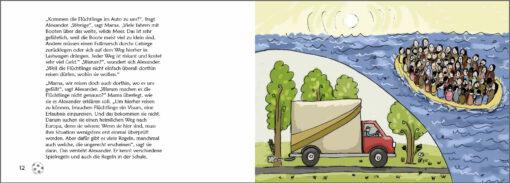 Karim auf der Flucht - Das Bilderbuch zum Thema Flüchtlinge (Innenansicht)