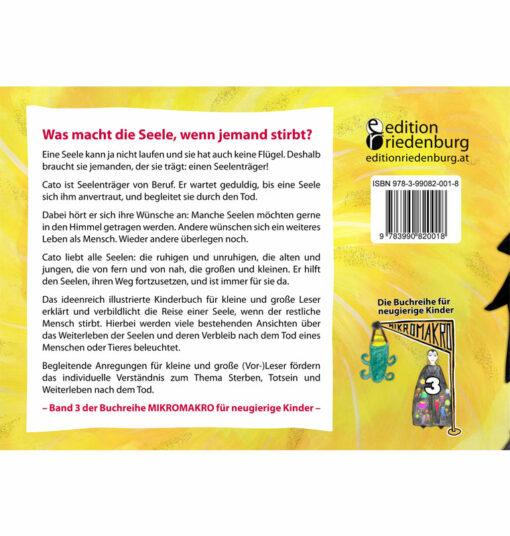 Cato, der Seelenträger - Das Bilderbuch zum Leben der Seelen (Backcover)