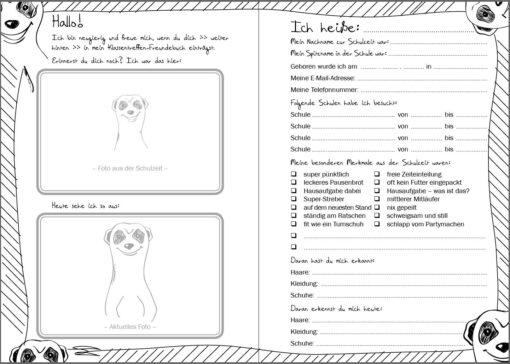 Das Klassentreffen-Freundebuch (Innenansicht)