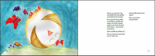 Hilli legt ihr erstes Ei - Das Bilderbuch vom Lernen (Innenansicht)