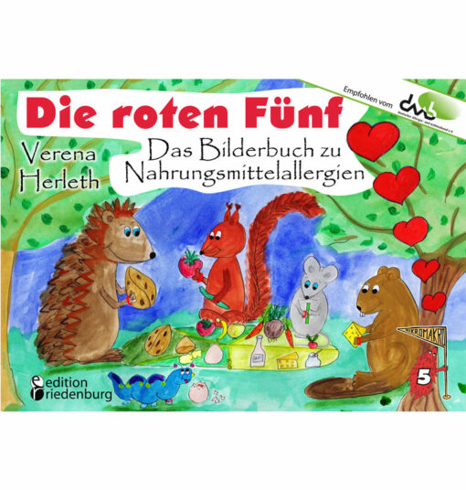 Die roten Fünf - Das Bilderbuch zu Nahrungsmittelallergien (Cover)