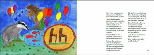 Die roten Fünf - Das Bilderbuch zu Nahrungsmittelallergien (Innenansicht)