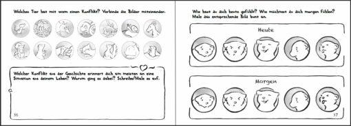 Was brauchst du? Kinderbuch Gewaltfreie Kommunikation (GFK) Innenansicht