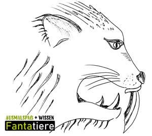 Ausmalspaß + Wissen: Fantatiere. Der Tiger mit dem Säbelzahn