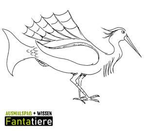 Ausmalspaß + Wissen: Fantatiere. Vögel: Fischreiher