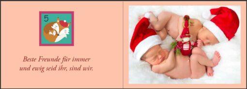 Baby Adventskalender - Ein zauberhaft fotografierter Bilderbuch-Adventskalender für Schwangere, Mamas und Papas (Innenansicht)